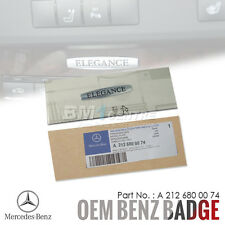 GENUINE OEM MERCEDES BENZ ELEGANCE CHROME REAR BOOT SIDE EMBLEM BADGE INTERIOR