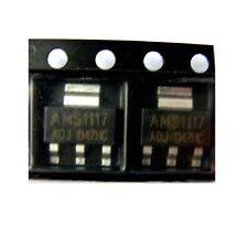 2x régulateur de tension AMS 1117 ADJ SOT-223 1A Voltage regulator 2pcs