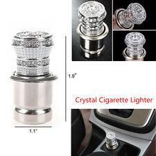 12V Crystal Style Car Cigarette Lighter Rhinestone Bling Charger Decor Accessory