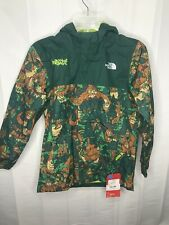 NORTH FACE Resolve Rectie Rain Jacket Bigfoot Boys Medium 10/12 Green