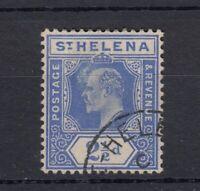 St Helena KEVII 1908 2 1/2d Damaged Frame & Crown Variety  JK1506
