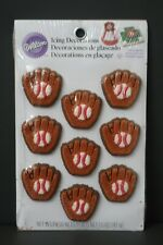 Wilton 9 Pack Baseball Mitts Cake Icing Decorations Birthday Party Toppers!