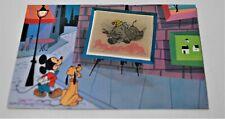 1950s DISNEYLAND MICKEY, PLUTO, DUMBO Lenticular Artist 3D Art Corner Postcard