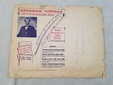 Abraham Lincoln Selected Writings Bearing His Own Signature 1956 Reproduction