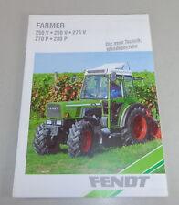 Prospekt Fendt Farmer 250 V / 260 V / 275 V / 270 P / 280 P Stand 1994