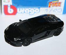 Burago - LAMBORGHINI AVENTADOR LP700-4 (Black) - 'Street Fire' Model 1:43