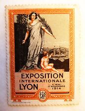 ANCIEN TIMBRE VIGNETTE DELANDRE / EXPOSITION LYON 1914