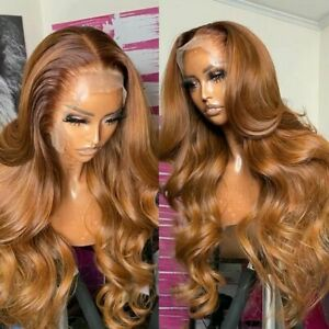 Lace Front Human Hair Wigs Highlight Body Wave Honey Blonde Lace Frontal Wigs