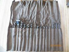 1 set of 18 drill bits in canvas case for drilling in wood