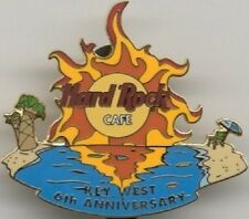 Hard Rock Cafe KEY WEST 2002 6th Anniversary PIN Flamin Beach Sunset LOGO #14254