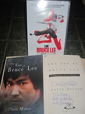 I AM BRUCE LEE (New DVD) and AUTOGRAPHED Best-Ever Lee Book TAO OF BRUCE LEE
