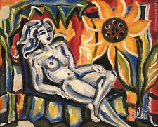 JACQUELINE DITT - Relax A4 Druck n.Gemälde Bild Akt nude girl Kunst art Bilder
