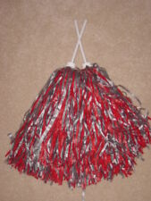 PAIR of ROOTER Pom Poms *OHIO STATE COLORS*