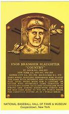 Baseball Hall of Fame Postcard Enos Country Slaughter St. Louis Cardinals HOF 85