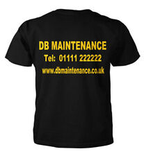 Personalised T Shirt, Work Wear,  Custom Printed T-Shirts, Sizes Small to XXL