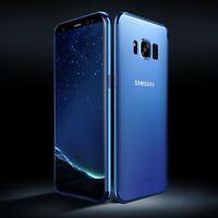 Samsung Galaxy S6 Hülle Case Handy Cover Schutz Tasche Schutzhülle Bumper Blau