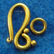 10Sets Tibetan Antique Gold  HOOK & EYE Clasps Connectors Jewelry Findings CL87