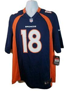 Official NWT Nike NFL Denver Broncos #18 Peyton Manning Blue Jersey Size L