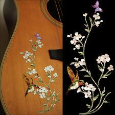 In The Garden - Flowers Hummingbird Butterfly Inlay Sticker Decal Guitar Bass