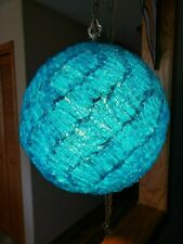 1960s Blue Swag/swade Lamp With Cord