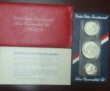 1976 U.S. Mint (3pc. SILVER) Bicentennial Uncirculated Set