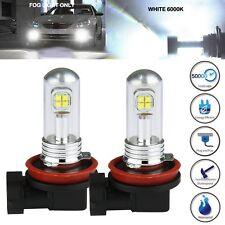 2 X H11 H8 80W CREE LED Fog DRL Driving Car Head Light Lamp Bulbs 6000k White