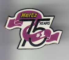 RARE PINS PIN'S .. AUTO CAR LOCATION RENTAL LEASE HERTZ ANNIVERSAIRE 75 ANS ~C6