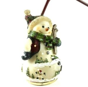 Holiday Winter Christmas Décor Snowman Tree Candle Snuffer