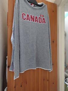 Canada Weather Gear Grey Long Sleeve Men's T-Shirt Size XL