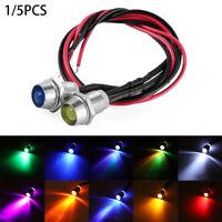 Multi-color Bulb Warning Lamp With Metal Holder 12V 8mm LED Indicator Light