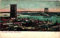 Vintage Postcard - 1910's Un-Posted Brooklyn Bridge New York NY #3413