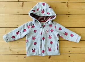 Tom Tailor Baby Girl Hoody Hoodie Size 74 9-12 Months Grey Bunny Rabbit Joules