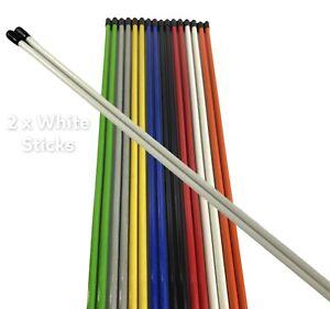 Golf Alignment Sticks New White  ***BARGAIN***