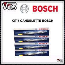 KIT 4 CANDELETTE 0250203001 BOSCH PER ALFA ROMEO 147 1.9 JTD