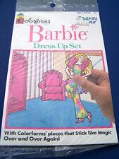 NEW Vintage 1989 BARBIE Dress Up Set COLORFORMS Travel PAK Factory Sealed GREAT