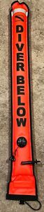 Surface Marker Buoy w/ Valve Safety Sausage SMB Neon Red 4ft Foot Tech Dive Buy