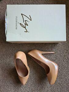 ZIZI By FLORSHEIM - Heidi Patent Hidden Platform Heels - Pink - 36 - EUC