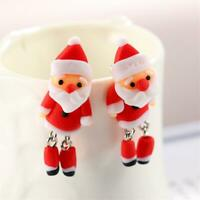 schöne schmuck tier santa claus weihnachten ohrringe polymer clay ohr - hengst