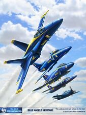 ART PRINT: Blue Angels Heritage (F-18, A-4, F-4)  by Shepherd
