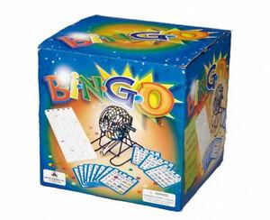 Bingo Game Set - Vinyl coated Metal Cage 75 Balls 18 Bingo Cards 150 Bingo Chips