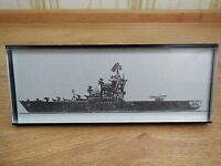 "Vintage Soviet Russian Helicopter Carrier ""Moskva"" Ship DeskTop Souvenir USSR"