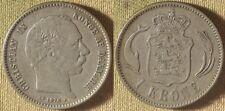 Denmark : 1876(h)HC//CS 1 Kroner VF+    #797.1    IR8573