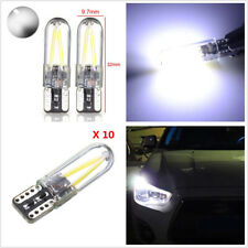 10 Pcs 12-24V COB LED White T10 W5W Car SUV Glass Lights Side Marker Lamps Bulbs