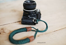 Windmup Blackish green hand weave 16mm Camera wrist band