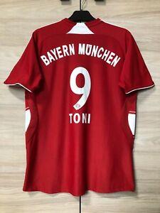 Bayern Munich 2007-2009 Luka Toni #9 Home Shirt Jersey Youth L boys UK 32-34