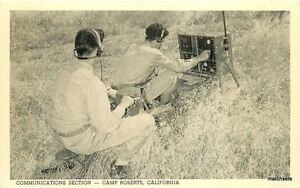 1940s Military WW2 Communication Section Camp Roberts  California Smith 6827