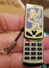 Disney Wdw Tinker Bell Cell Phone Slider With Yellow Star Charm Strap Dangle Pin
