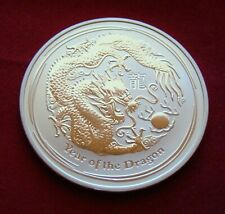 2012 Silver Coin ~ 1 troy oz ~ Australia YEAR OF THE DRAGON Chinese Zodiac BU
