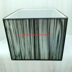 Black Square String Lampshade White Diffuser L34.5cm D34.5cm H29.5cm Elegance