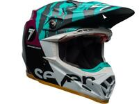 Casque Motocross BELL Moto-9 Flex Seven zone Gloss Noir / Aqua / violet